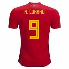 2018 World Cup Jersey Belgium Lukaku Home Replica Red Shirt  BFC672  World  Cup 2018 7ca14323f