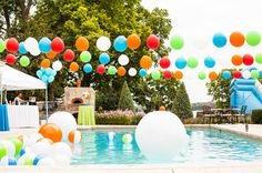 Balloons over the pool