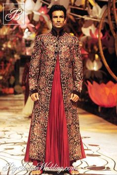 Rohit Bal embroidered cape for men