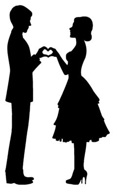Vector Illustration of silhouette of the bride and groom holding hands vector art, clipart and stock vectors. Image of silhouette of the bride and groom holding hands vector art, clipart and stock vectors. Couple Silhouette, Wedding Silhouette, Silhouette Clip Art, Bride And Groom Silhouette, Silhouette Images, Silhouette Portrait, Pencil Art Drawings, Art Drawings Sketches, Couple Drawings