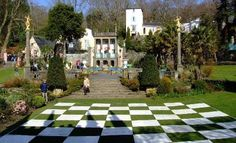 The chessboard in Portmeirion village, by Sandy Smith ~ featured in many episodes of The Prisoner