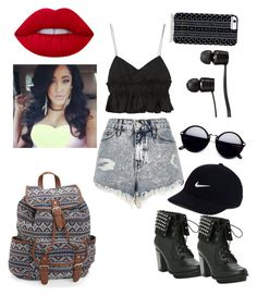"""""""A day at the mall!"""" by pascalleowens2005 on Polyvore featuring Tod's, River Island, Aéropostale, NIKE, Vans, Savannah Hayes and Lime Crime"""