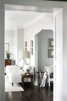 {{Gray Owl}} Gray Owl is a color I use often. I love it in kitchens with white cabinets, in master bedrooms, living rooms, and even nurseries. This is a true light gray.