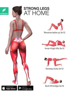 There are some great exercises and activities that you can incorporate into your daily life at home, which will completely transform your legs. These four workouts will target your full lower body m Fitness Workouts, Fitness Herausforderungen, Gym Workout Videos, Fitness Workout For Women, Workout Plan For Women, Butt Workout, At Home Hamstring Workout, Leg Toner Workout, Home Exercise Routines