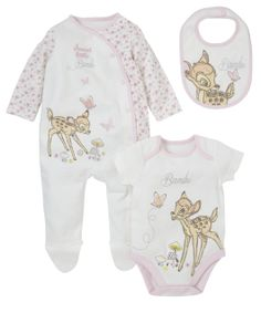 Bambi Set - 3 Piece - co-ordinated sets - Mothercare Baby Outfits, Outfits Niños, Kids Outfits, The Babys, Disney Baby Clothes, Baby Kids Clothes, My Baby Girl, Bambi Nursery, Disney Nursery