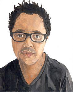 Miguel Valiñas Otero   Retrato 01   2011   Óleo sobre papel   21*28.5 cm