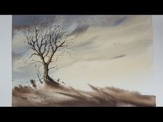 How to Draw and Paint a Winter sunset Tree. Easy and fun to follow. With Peter Sheeler - YouTube