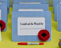"""Wizard of Oz Party Activity: """"I Would Ask the Wizard For..."""" Gingham and Poppy Frame + 10% Off Party Supplies Coupon"""