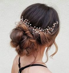 Classic bun with a twist hairstyle | Bridal hairstyle ideas,wedding hairstyles,updo hairstyles