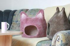 Cuevas de fieltro con orejas, escondites ideales para gatos