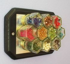 magnetic spice holder, bead organizer, tiny things