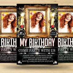 Birthday Bash Invitation Card by FionaCreatiiv on Etsy, $4.00
