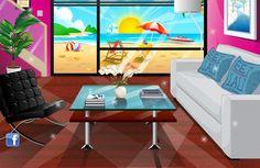 Casa Moderna: Uma nova casa precisa de uma decoração moderna e estilosa. Mostre que você é uma talentosa designer de interiores e decore a cozinha, quarto, banheiro e sala de estar.