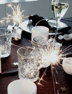 Photo/Styling: by Therese Knutsen - My table settings - New Years New Years Eve Decorations, Table Decorations, House Smells, Xmas, Christmas Ideas, Happy New Year, Special Occasion, Table Settings, Ceiling Lights