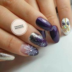 Xmas Nail Designs, Nail Art Designs, Gel Nail Art, Acrylic Nails, Casket Nails, Christmas Gel Nails, Sassy Nails, Neutral Nails, Elegant Nails