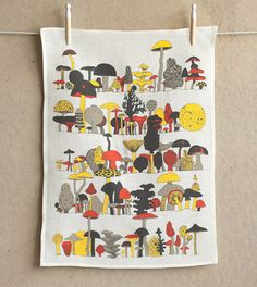 makelike (a shop) Fungus-Among-Us Tea Towel