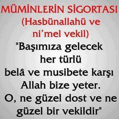 The insurance of the believers hasbünallahü and ni mel deputy … – Tesettür Meaningful Lyrics, Quran, Allah, Poems, Believe, Prayers, Religion, How To Plan, Quotes