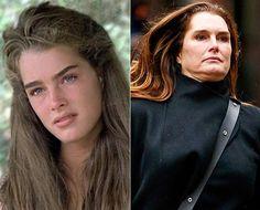 Brooke Shields em 'A Lagoa Azul', de 1980, e hoje (Foto: Divulgação e AKM)