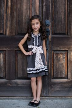 Trish Scully Child Store - Parisian Herringbone Button Front Pleated Dress, $34.99 (http://www.trishscullychild.com/parisian-herringbone-button-front-pleated-dress/)