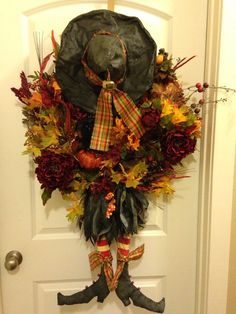 Primitive witch wreath