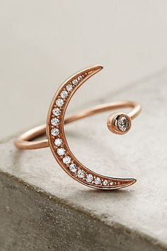 Crescent Orbit Ring #anthropologie