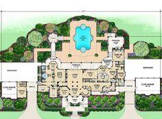 House Plan 5445-00104 - European Plan: 12,291 Square Feet, 5 Bedrooms, 8 Bathrooms