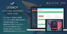 ThemeForest - Legacy - White label WordPress Admin Theme  Free Download