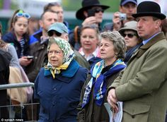 Equestrian enthusiast: The Queen braved the rain to attend the Windsor Horse Show on Friday, 10 May 2013.