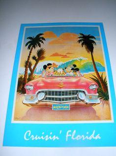 Vintage Disney Cruisin Florida PostcardMickey and by Snowcap23, $1.75