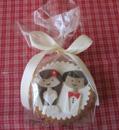 Wedding Cookie Favors -- I was at a wedding recently that had pink flamingo cookies.  So cool.