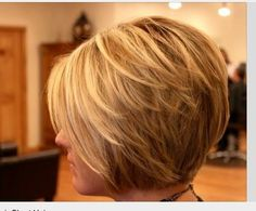I want this haircut. If I could do it at a length where I could still pull it back that'd be perfect.
