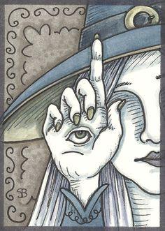 Third Eye Palm Reader Witch Fortune Teller EHAG Art by susanbrack, $14.99