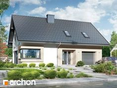 Projekt domu Dom w zdrojówkach - ARCHON+ Rural House, Walk In, Home Fashion, House Plans, Pergola, Floor Plans, Outdoor Structures, Flooring, Mansions