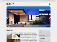 Realty is simple, but powerful WordPress theme for business website. It has stylish and clean design and comes with advanced features allows you to make changes to the theme without code editing Wordpress Theme Design, Premium Wordpress Themes, Nutrition Store, Cheese Nutrition, Wordpress Template, Clean Design, Web Design, Real Estate, Templates