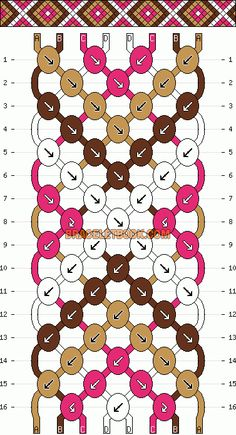 Normal Pattern #986 added by duhxemily not the correct color but the pattern is close for the wristband