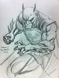Batman por Freddie E. Williams II ✤ ||  Referencias diseño de personajes |  キ ャ…