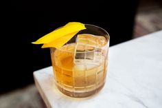"""This """"improved"""" Cognac Old Fashioned takes notes from Jerry Thomas' time by adding maraschino and absinthe. Brandy Cocktails, Winter Cocktails, Pineapple Syrup, Most Popular Cocktails, Cocktail Syrups, Cocktail Ingredients, Infused Vodka, Daiquiri, El Camino"""