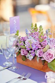 Love this reception table floral arrangement. Lavender Wedding Inspiration in Holman Ranch, CA Nuptials by Mirelle Carmichael Photography Lilac Wedding, Spring Wedding, Wedding Colors, Wedding Flowers, Wedding Centerpieces, Wedding Table, Wedding Bouquets, Wedding Decorations, Reception Table
