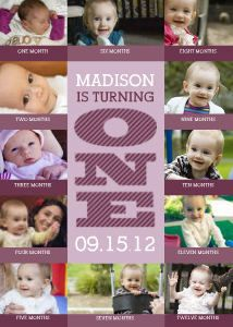 Mixbook Bold First Birthday Girl Baby's First Birthday love this idea...it would look great with all Auntie Jana's great picture taking