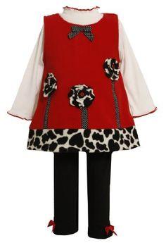 Bonnie Baby-girls Newborn Red Fleece Legging Set With Leopard Trim, Red, 0-3 Months Bonnie Baby, http://www.amazon.com/dp/B0083QKULM/ref=cm_sw_r_pi_dp_FwnGqb0D3W2NN