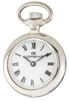 Lorenz Men's 016880AJ Mini Pocket Watch Lorenz. $187.00. 2 year distributor warranty. Gold tone dots for hour markers. Engraved back. Sterling silver case. Precision Quartz movement