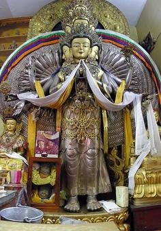 Chenrezig at the Dali Lama's temple in Dharamsala,Himachal Pradesh