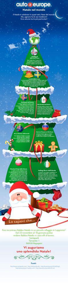 Infografica: Natale nel mondo - Consulta qui le altre infografiche di Auto Europe: http://www.autoeurope.it/go/infografiche/