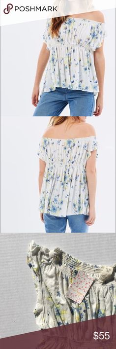 Free People Off the Shoulder Tea Combo We the Free - Free People off the shoulder top. Free People Tops Blouses