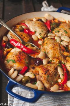 Spanish Chicken in Bravas Sauce-all favourite flavours of Spain in one delicious recipe!