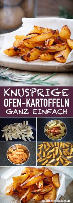 Knusprige Ofenkartoffeln www.emmikochteinf Potatoes are a nutrient tha Crispy Baked Potatoes, Benefits Of Potatoes, Red Potato Recipes, Best Pasta Salad, Slice Of Bread, Different Recipes, Food Lists, Good Food, Finger Food