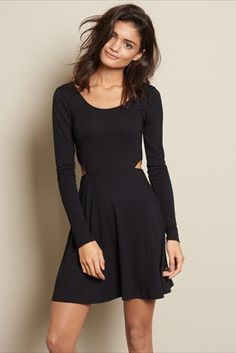 Fit & Flare Cutout Dress