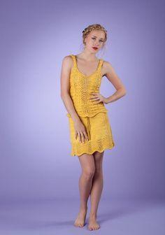 (6) Name: 'Knitting : Sunflowers Cami