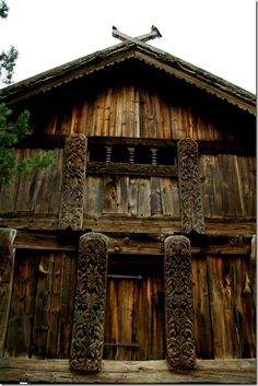 Store House (stabbur) in Telemark, Norway - From THE ESSENCE OF THE GOOD LIFE™ - http://www.pinterest.com/LeneGede/ - https://www.facebook.com/pages/The-Essence-of-the-Good-Life/367136923392157