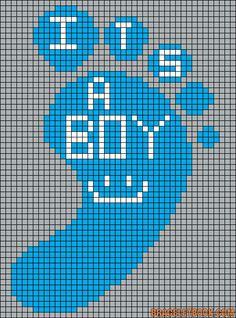 It´s a boy baby perler bead pattern